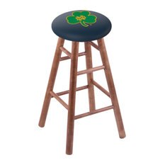 Maple Counter Stool Medium Finish With Notre Dame Shamrock Seat 24-inch