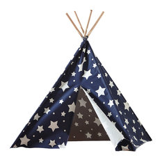 Children's Teepee, Blue With Stars