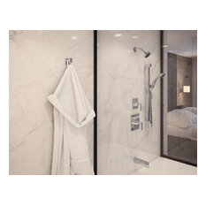 Duro 2-Handle Tub and Shower Faucet Trim With Hand Shower, Chrome