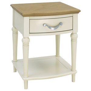Denali Oak and Antique White 1-Drawer Nightstand