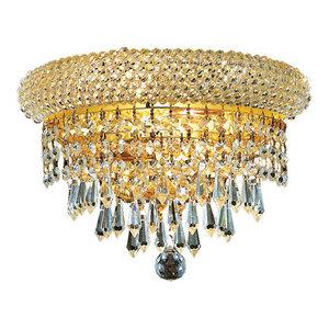 Elegant V1800W12C//RC Primo 2 Light Chrome Wall Sconce Clear Royal Cut Crystal