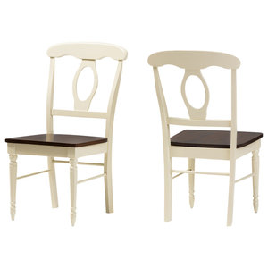 Napoleon French Country Cottage Buttermilk Finishing Wood Dining Chair