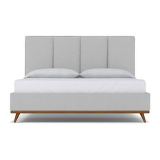 Apt2B - Carter Upholstered Bed, Silver, Eastern King - Panel Beds