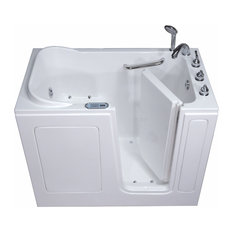 Pearl Series Walk-In Tub, Bisque, Right Hand, Air Jet Therapy