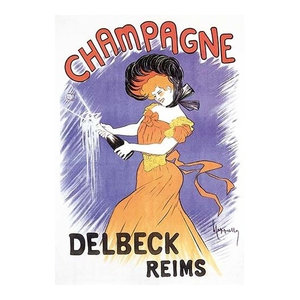Champagne Delbeck 1910 Canvas Art By Louis Chalon Traditional Prints And Posters By Trademark Global