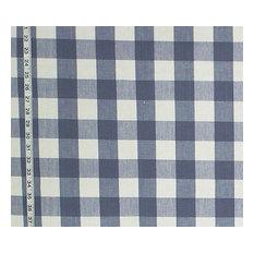 Buffalo Check Fabric White Rt-Lym- Dl01 French Blue, Standard Cut