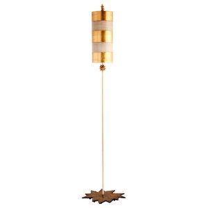 Elegant Floor Lamp, Gold Leaf