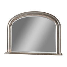 Yearn - Beaded Overmantel Wall Mirror, 79x112 cm, Silver - Wall Mirrors