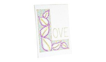 """""""L"""" is for Love, Mini Wall Art, Purple"""