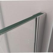 Linea Frameless Shower Door 34 in. x 72 in. Open Entry Design. Brushed Nickel
