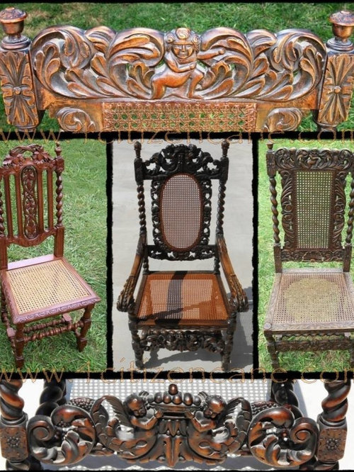 Jacobean/Carolean/Restoration Antique Cane Chair