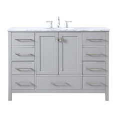 Elegant Decor VF18948GR 48 Inch Single Bathroom Vanity In Gray