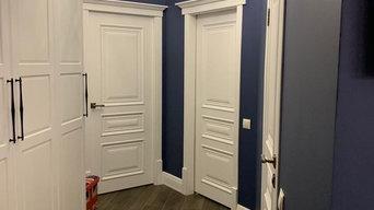 Двери в интерьере Ницца 5 в глухом исполнении