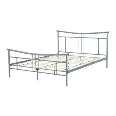 Dover Metal Platform Bed, Double