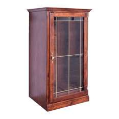 Traditional Audio Tower With Glass Door