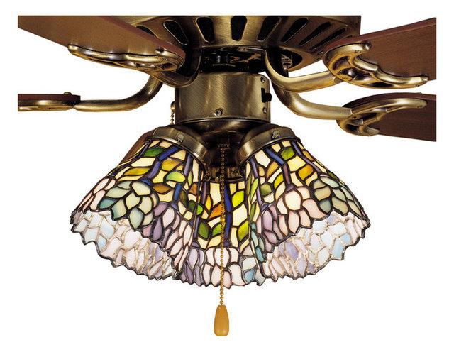 Meyda tiffany wisteria ceiling fan light shade x 67472