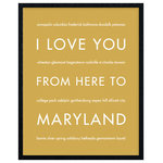 """HopSkipJumpPaper - Maryland State Travel Art Print, Harvest, 16x20"""" - Celebrate your love for your favorite state: Maryland!"""