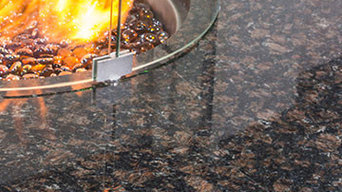 Round Gas Fire Table