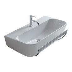 - Wall-hung washbasin 85x44cm - Meg 11 - Lavabi