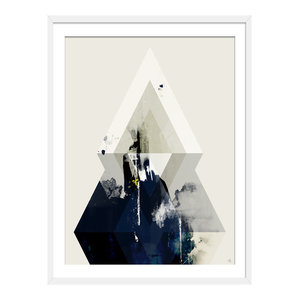 """""""Beneath The Surface"""" Abstract Art Print, White Framed, 40x50 cm"""