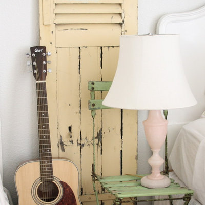 Inspiration for a shabby-chic style home design remodel in Other