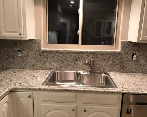 Dallas White With Full Height Backsplash