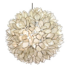roost lotus flower capiz shell chandelier large chandeliers