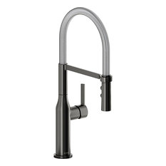 Elkay Avado 1.8GPM Pullout Spray 1-Hole Kitchen Faucet BS&Chrome, LKAV1061BKCR