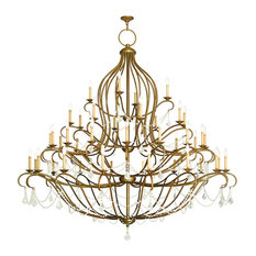 livex lighting inc 16 16 8 4light antique - Foyer Chandeliers