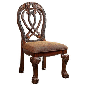 Wyndmere BM131196 Traditional Side Chairs, Cherry, Set of 2, Cherry