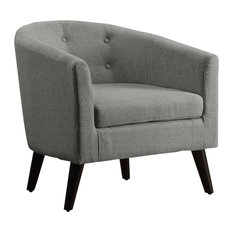 Phipps Barrel Chair, Gray