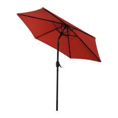 Aluminum 7.5' Patio Umbrella With Tilt and Crank