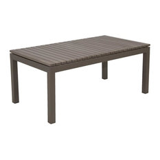 Riviera Outdoor Faux Wood Coffee Table, Gray