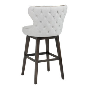 Hillsdale Charleston 30 Quot X Back Swivel Bar Stool In Dark