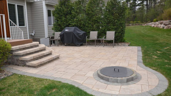 Backyard Patio with Fire Pit