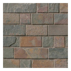 California Gold Brick Pattern Tumbled, Gauged, Slate,