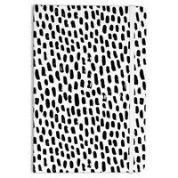 "Kess Original ""Ink Dots"" Black White Everything Notebook"