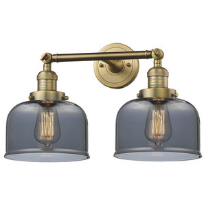 Innovations Large Bell 2-Light Dimmable LED Bathroom Fixture, Brushed Brass