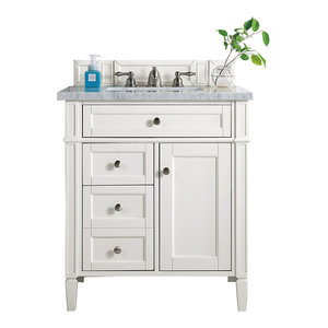 """Brittany 30"""" Single Vanity Cottage White, Base Cabinet Only"""