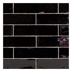 "Catalina 3""x12"" Ceramic Tile, Black"