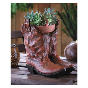 7655ffbe68e Cowboy Boots Planter - Southwestern - Indoor Pots And Planters - by ...