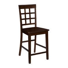 Kinston Window Pane Counter Chair (Set Of 2) Espresso