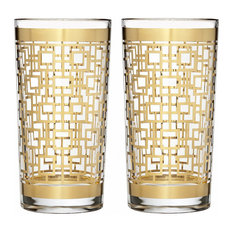 - Waterford - Mad Men Holloway Highball Tumbler Set 2pce - Everyday Glasses
