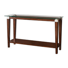 Solitaire Sofa Table By Hammary Rich Dark Brown