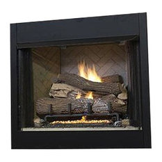 "42"" Tall Vent-Free Universal Circulating Firebox, White Stacked Liner"