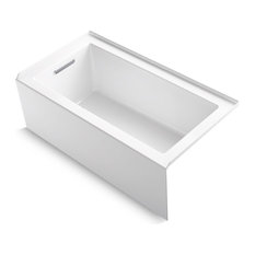 "Underscore Alcove Bath With Integral Apron and Left-Hand Drain, 60""x32"", White"