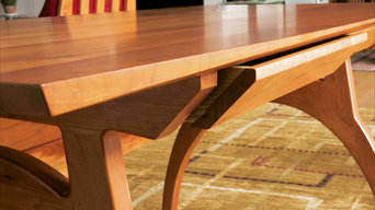 S2 Crescent Desk with Drawers in Cherry