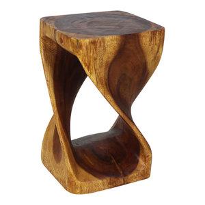 Haussmann® Original Wood Twist Stool 10 X 10 X 16 In High Walnut Oil