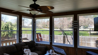 Sun and privacy control in a sunroom