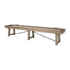 Isaac Shuffleboard Table Rustic Game Table, 14'